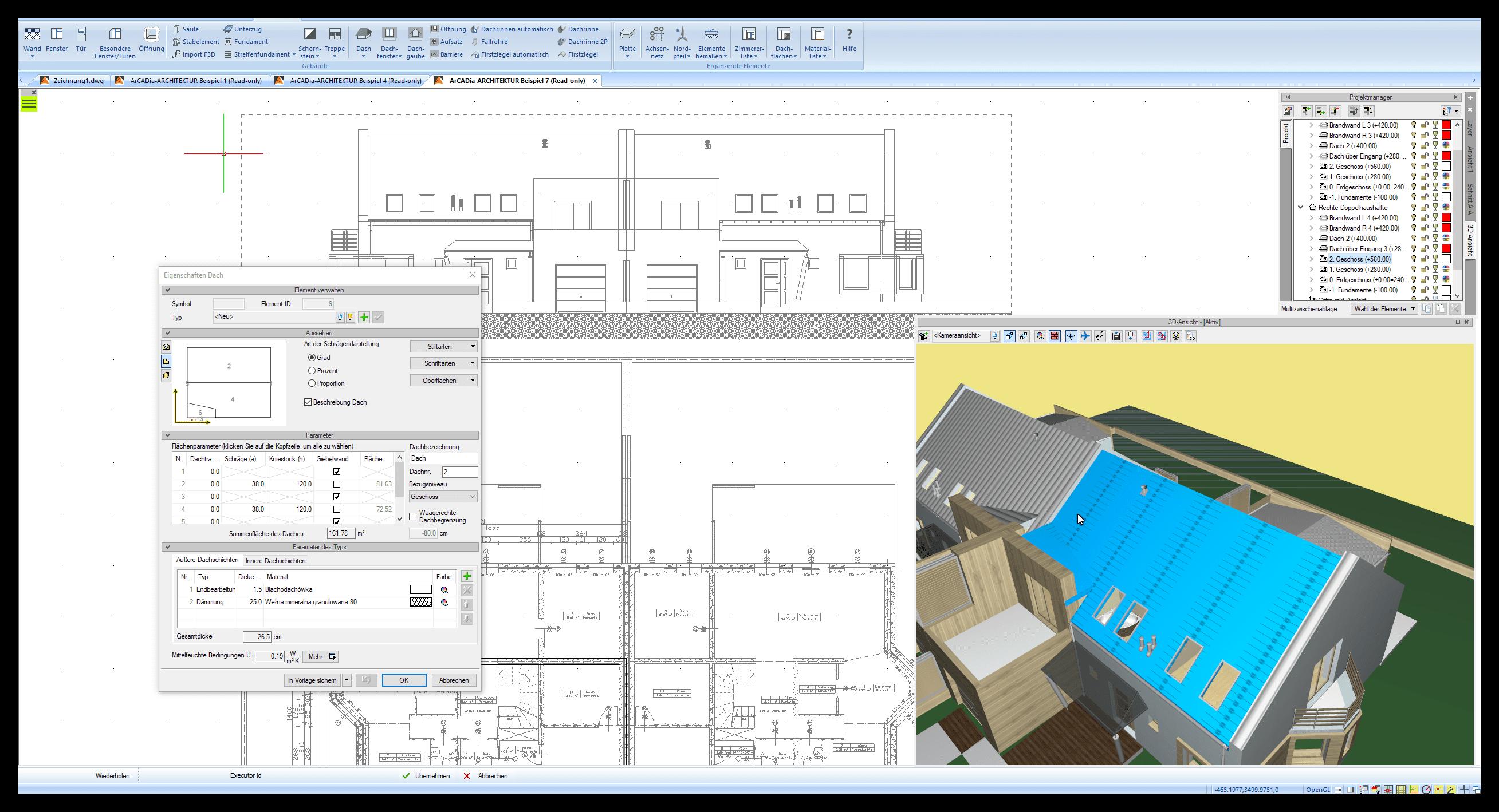 Dach virtuell planen