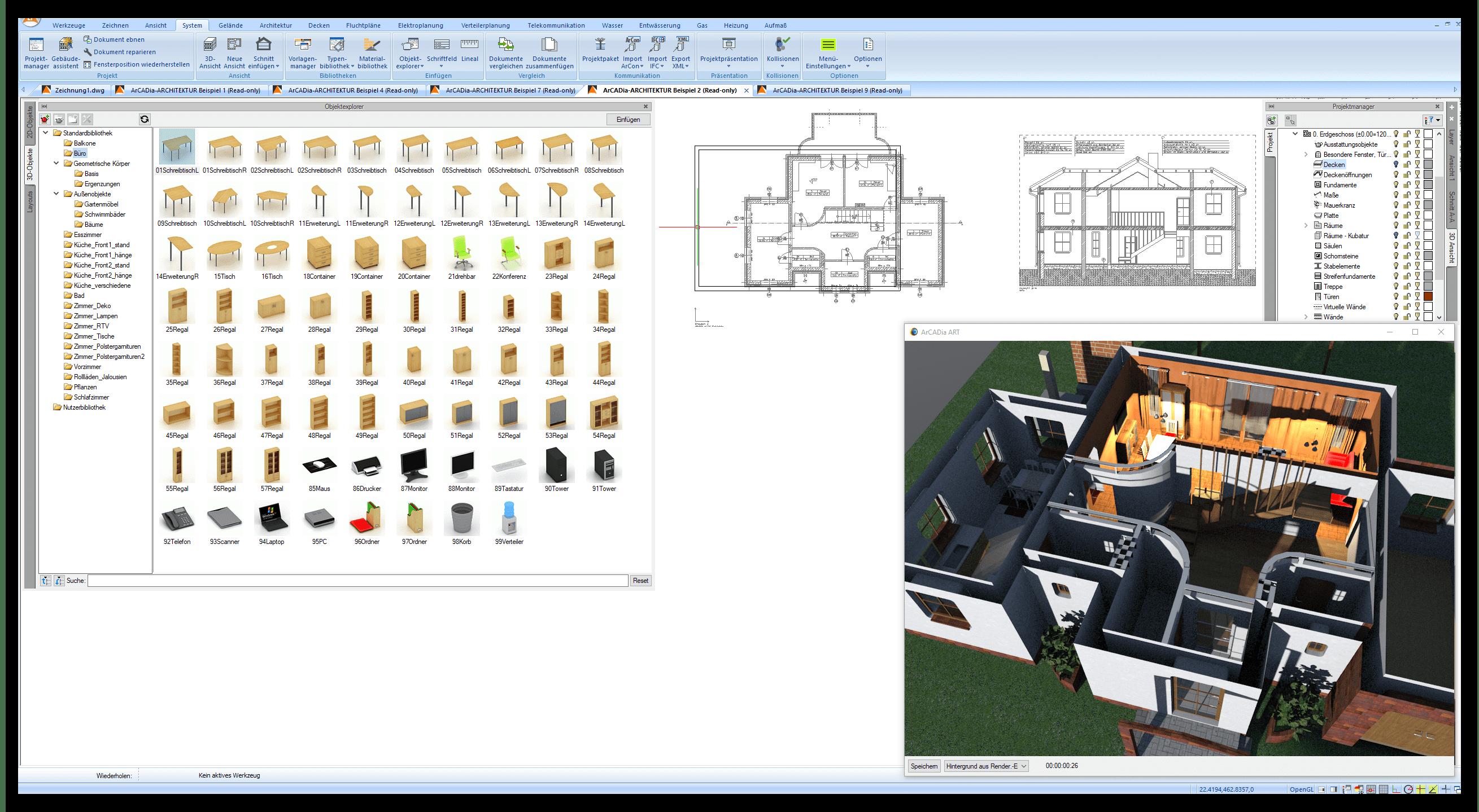 Datenbänke für Objekte und Material