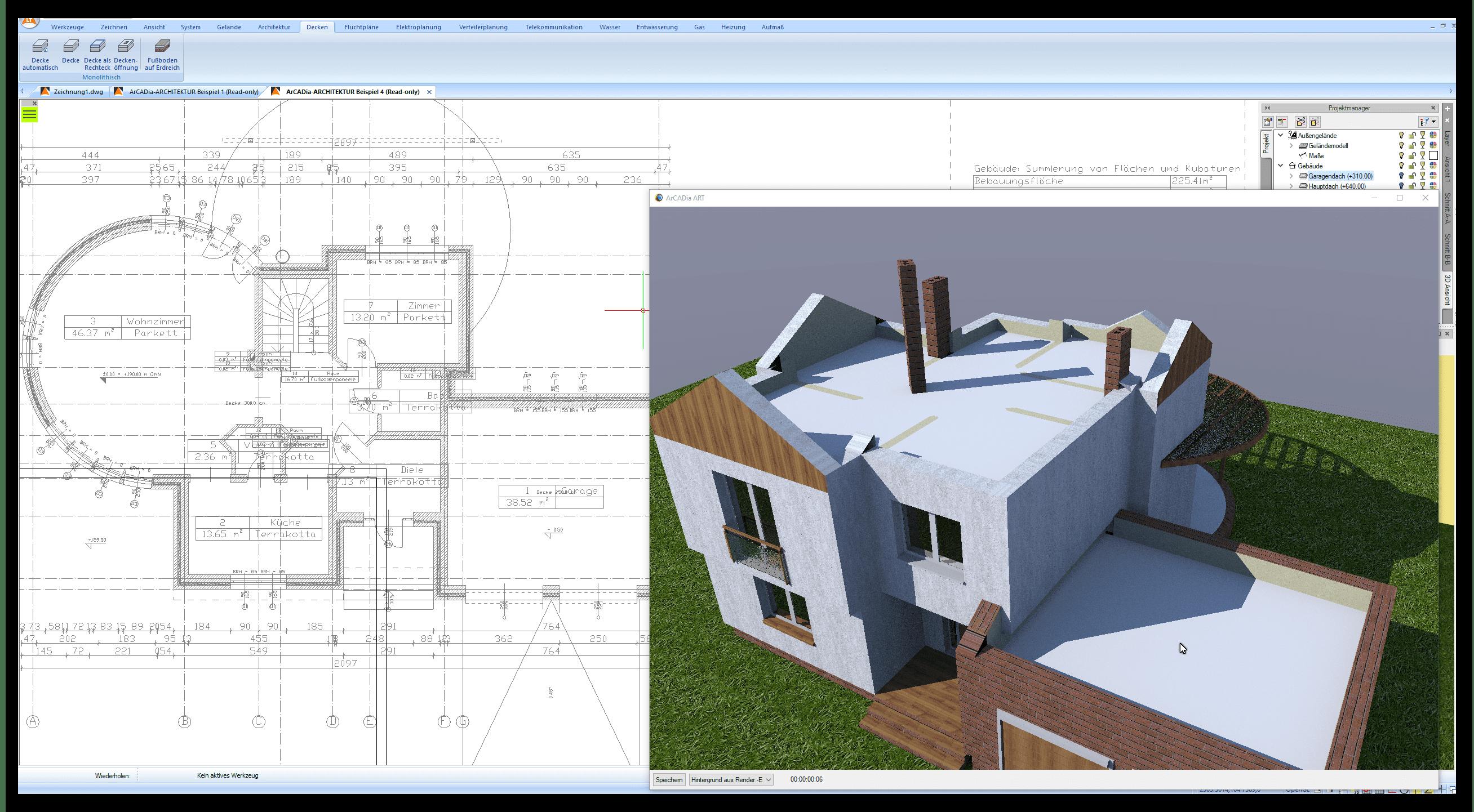 Decken und Fundamente planen