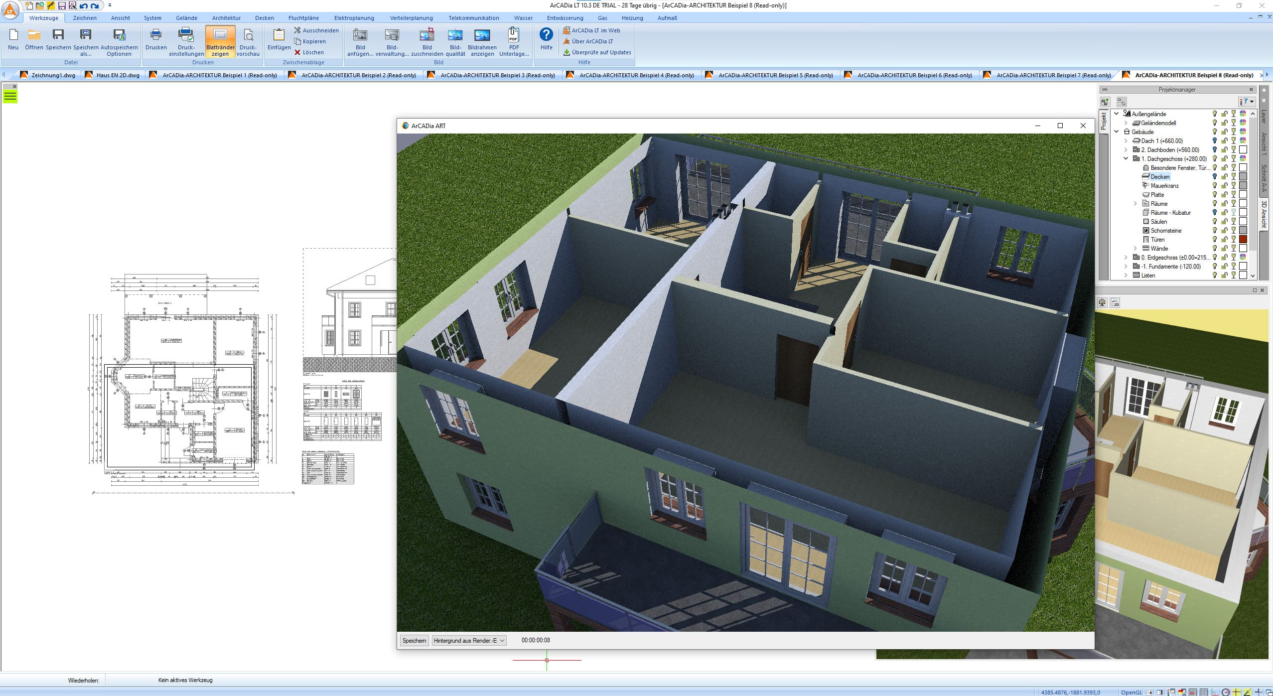 Haus selber planen   mit 21D CAD BIM Software