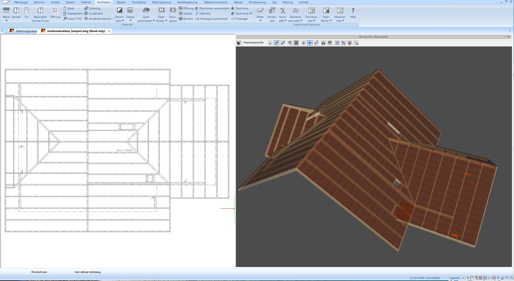 Dach Holzkonstruktion