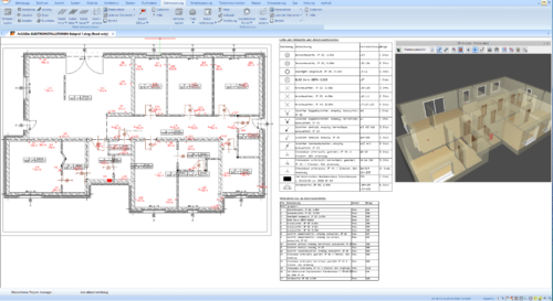 Elektroinstallation mit dem ArCADia BIM 3D Architekt 1