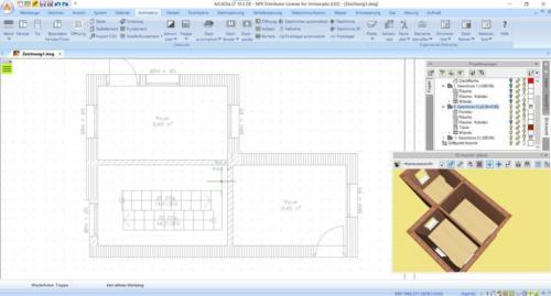 Grundriss zeichnen mit dem Arcadia BIM 3D Architekt